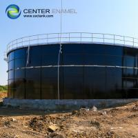 Smooth Glass Fused Steel Tanks , 30000 Gallon Bolted Steel Water Storage Tank Manufactures