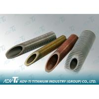 Alloy Seamless Titanium Pipe ASTMB 338 For Heat Exchangers And Condensers Manufactures