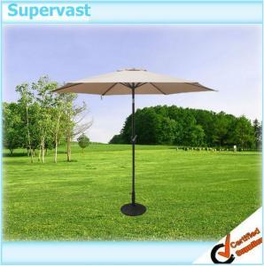 China Durable 9 FT Outdoor Aluminium Patio Umbrella , Straight Patio Market Umbrellas on sale