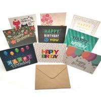 China Happy Birthday Paper Greeting Card Envelope Sets Recyclable With Offset Printing on sale