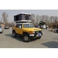 China Promoted Folding Ultra-Light White Shell Green Body Fabric Harshell Roof Top For Hiking And Travelling on sale