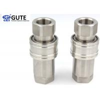 Sleeve Retraction Stainless Steel Quick Disconnect Couplings Nitrile O Ring Seals Manufactures