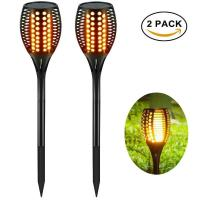 China 96 LED Flickering Torches Lights solar outdoor powered led landscape lights for Garden Pathways Yard on sale