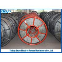 China 28mm 480kN 12 Strands Anti twisted Galvanized Braided Steel Wire Rope Overhead Conductor Stringing on sale
