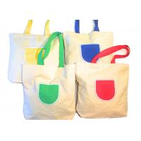 Canvas Tote Shoulder Bags Reusable Beach Bags , Grocery And Shopping Bags Manufactures