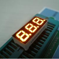 Three Digit Mini 7 Segment LED Display Multiplexing For Indicator Yellow Manufactures