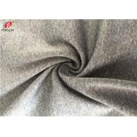 Breathable Melange Fabric Polyester Spandex Blend Poly Brush Fabric For Sportswear Manufactures