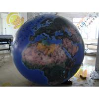 Quality Reusable 2.5m Inflatable Earth Ball Fire Retardant UV Protected Printing for sale