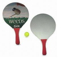 Beach Rackets and Ball Set, Available in Heat-transfer Printing Logo, OEM Orders are Welcome Manufactures