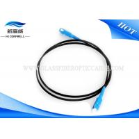 China White Black Fiber Optic Patch Cables OS2 Low Insertion Loss With Custom Length on sale