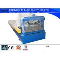 Low Alloy Steel Plate Corrugated Sheet Roll Forming Machine , 0.4-0.6mm Tickness Manufactures