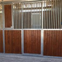 Customized front panel wooden horse stable bamboo material horse stall Manufactures