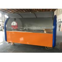 Trolly Cart Stainless Steel Hot Dog Cart Hand-Push Kiosk On Small Wheels Vending Manufactures