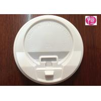 8oz / 12oz / 16oz White Color Coffee Cup Lids With A Cap / PS Material Manufactures