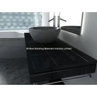 China Hunan Ink Black Marble Bathroomm Countertops,Black Marble Vanity Top on sale