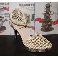 Quality Brand Nature Braided High Heeled Sandals ladies quality platform shoes OEM/ODM factory for sale