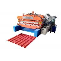Half Round Roof Tile Making Machine , Full Automatic Glazed Tile Forming Machine Manufactures