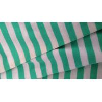 Double Striped Jersey Knit Fabric For Tracksuit / Hoodie With Embossed Logo Manufactures