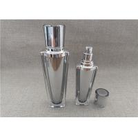 China Sliver Cap Refillable Pump Bottles , Empty Lotion Containers 60 / 120G on sale