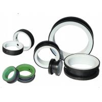 China Black / Green PTFE Valve Seat Butterfly Valve Parts DN50 - DN600 Port Size on sale