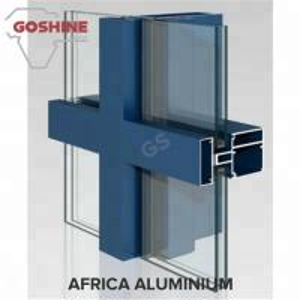 Foshan 6063 T5 Aluminum curtain wall Profile for Custom Design Made for Tanzania Manufactures
