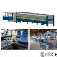 China Cookware Glass Lid Tempering Furnace , Pot Lid Glass Tempering Machine on sale