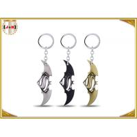 Game Sword Silver Brass Colored Metal Tiny Key Rings For Promotion Zinc Alloy Material Manufactures