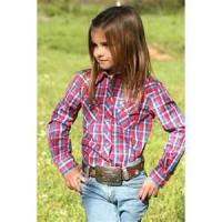 Quality High quality 100% Cotton Yarn Dyed personality kids plaid shirts girls for sale