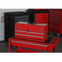 China Small Red / Black / Blue Waterproof Tool Box With Handle , Mechanics Tool Chest on sale