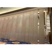 High Acoustic Fabric Finished Sliding Partition Wall For Space Division Manufactures