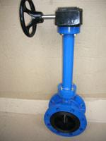 China Double flanged butterfly valve on sale