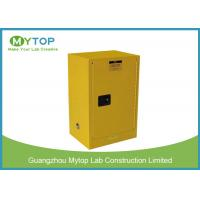 Yellow Flammable Gas Storage Cabinets , Chemical Safety Storage Cabinets 30 Gallon Manufactures