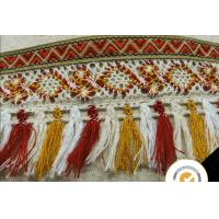 China Tassel Fringe Trim Fabric Fringe for Lampshade Lamp Costume Pillow Curtains Home Decor, 100% cotton lace fabric pom pom on sale