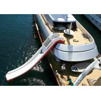 Cheap Price Giant Inflatable Water Spots ,  Inflatable Curved Yacht Boat Slide Manufactures