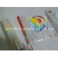 Hot sell 18 micron Seamless rainbow  BOPP  holographic transparent lamination film for wet laminaion process Manufactures