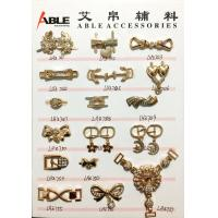 Popular Nickel Sparkling Zinc Alloy Buckle , Small Shoe Buckles For Woman Manufactures