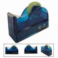 China 4-port USB HUB Adhesive Tape Holder with LED Light Indication, CE-/RoHS-certified on sale