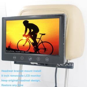 China TM-9008 9 inch car removeable headrest monitor with bracket mount 2 av input 12-24V on sale