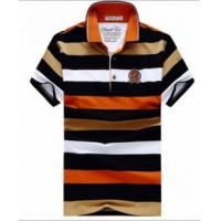 China Men's stripe print polo t shirt 100%cotton OEM Mens Polo Shirts on sale