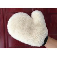 Auto Detailing Real Car Cleaning Gloves , Ultra Soft Wool Car Wash Mitt  Manufactures