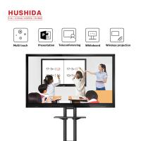 China HUSHIDA 55Inch Conference Room Touch Screen Lcd Monitor Smart Electronic Writing White Board 1920*1080P on sale