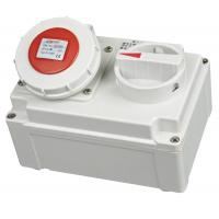 China Reliable 5P Industrial Socket With Isolator , Dust Protect 16 Amp Socket With Switch on sale