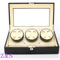 6+7 wooden watch winder with high gloss piano paint,automatic watch winder box watch case storage display watch box