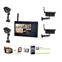 Outdoor Home Wireless Surveillance Camera Systems , 4CH CCTV NVR Security Camera Manufactures