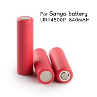 Genuine Sanyo 14500 vapor ecig mod batteries high capacity 3.7V Sanyo UR14500P 840mAh Sanyo 14500 rechargeable battery Manufactures