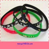 Buy cheap cheap eco-friendly thin silicone bracelet from wholesalers