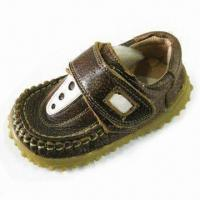Boy's Shoes in Cool Car Design, Made of Leather Manufactures