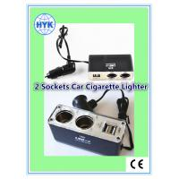 wholesale car cigarette lighter with car charger/2USB ports/female sockets/with battery clip Manufactures