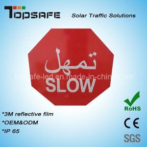 Aliminum Flashing Solar LED Traffic Slow Sign (TPST-S7) Manufactures
