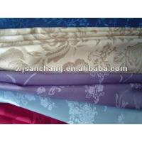 Quality 100% polyester satin jacquard fabric textiles for sale